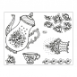 Preview: Clear Stamps 14 x 18 cm -Kombistempel Kaffeekanne-