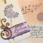 Preview: Clear Stamps 14 x 18 cm -Tiffany Style mit Libelle-
