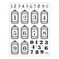 Preview: Clear Stamps 14 x 18 cm -Zahlen-