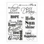 Preview: Clear Stamps 14 x 18 cm -Sprüche I-