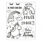 Preview: Clear Stamps 14 x 18 cm -Unicorn Power-