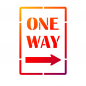 Preview: Universalschablone A5 -One Way-