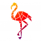 Mobile Preview: Universalschablone A4 -Flamingo modern-
