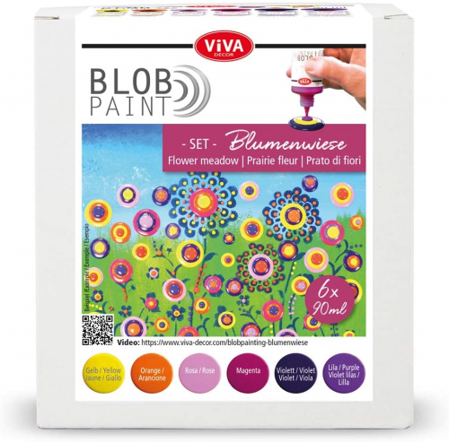 Blob Paint Farb-Set - Blumenwiese -