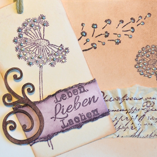 Clear Stamps 4er Set - Tags -