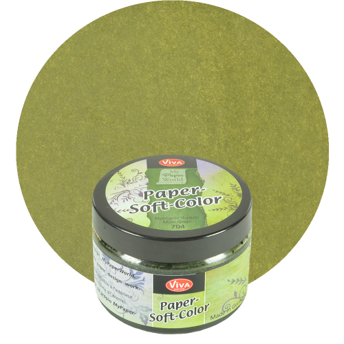 Paper Soft Color Stempelfarbe 75ml -Moosgrün-