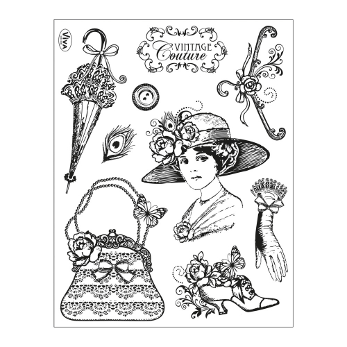 Clear Stamps 14 x 18 cm -Vintage Couture-