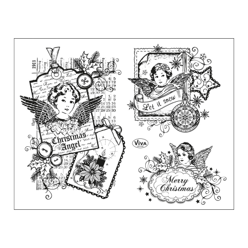 Clear Stamps 14 x 18 cm -Weihnachtsengel-