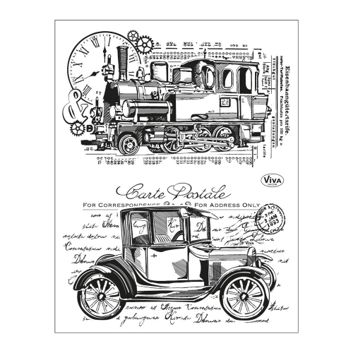 Clear Stamps 14 x 18 cm -Oldtimer-