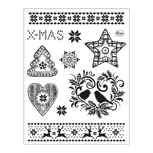 Clear Stamps 14 x 18 cm -Weihnachtsmotive II-