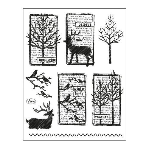 Clear Stamps 14 x 18 cm -Winterimpressionen-