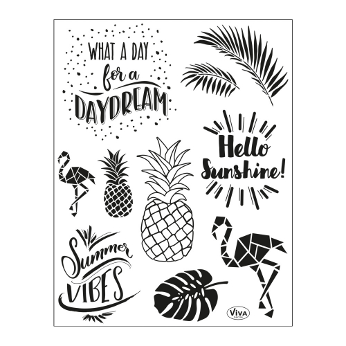 Clear Stamps 14 x 18 cm -Sommerstimmung-