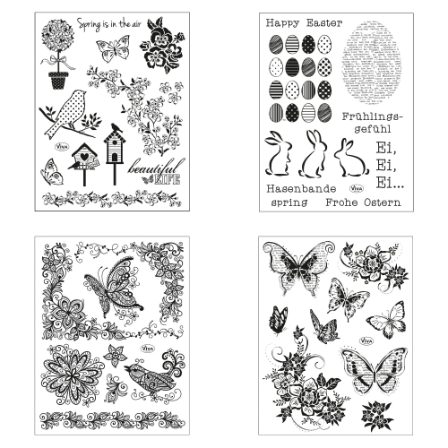 Clear Stamps 4er Set - Ostern II -