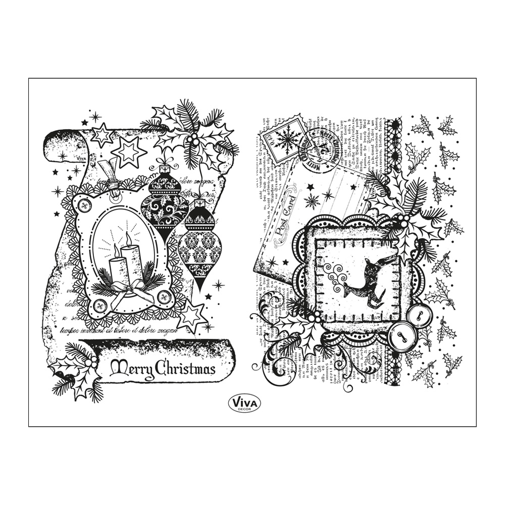 Clear Stamps 14 x 18 cm -Schriftrolle Merry Christmas-