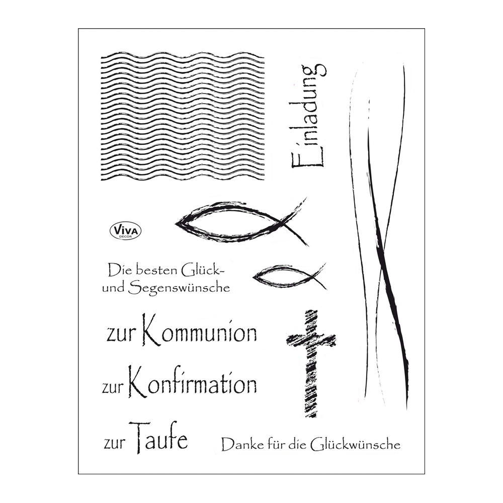 Clear Stamps 14 x 18 cm -Christliche Feste-