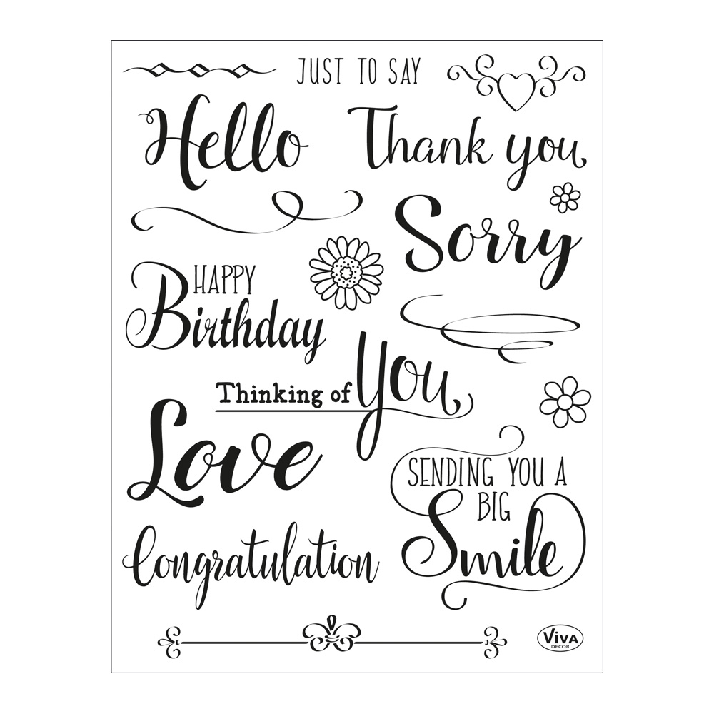 Clear Stamps 14 x 18 cm -Just to say-